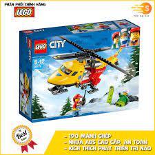 Bộ đồ chơi lắp ráp trực thăng cứu hộ 190 mảnh Lego City 60179 - Tốc độ 247