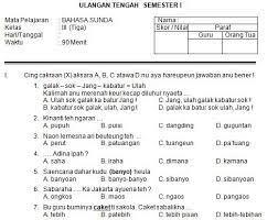 Cuplikan soal uas semester 1 kelas x mapel bahasa sunda : Soal Uts Bahasa Sunda Kelas 6 Sd Sgolinados S Ownd
