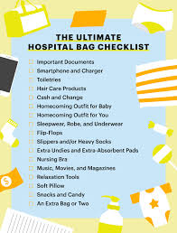 baby item checklist hospital bag checklist what to pack in a hospital bag parents
