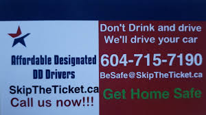 Designated Driver Service Surrey Designated Drivers For Skip The Ticket Driver Follows With