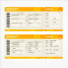 Airline Ticket Template Word Gorgeous Free Airline Ticket Template Rjengineeringnet