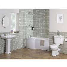Bathroom Suites Manchester Traditional Bathroom Suite With Left Hand P Shape Shower Bath