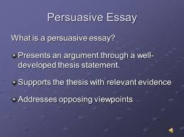 persuasive essay writing to convince others of your opinion  persuasive essay what is a persuasive essay presents an argument through a well developed