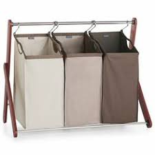 love that it has rollers AND 3 bins....hard to find | Organization and  Crafts | Pinterest | Laundry hamper, Hamper and Laundry