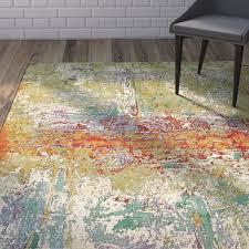 wade logan barone green area rug reviews wayfair