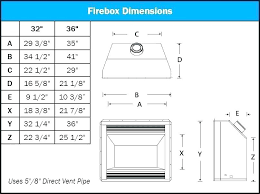 standard fireplace dimensions gas fireplace dimensions standard