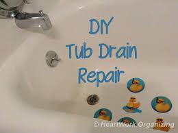 diy tub drain repair