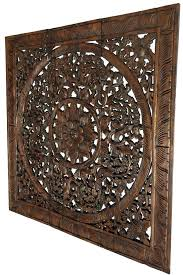 glamorous carved wood wall art panels luxury unique carving rustic home decor india