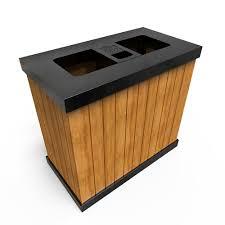 oslo mw multi stream outdoor recycling bins wood decor 5