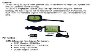 directv deca adapter diagram 28 wiring diagram images wiring deca ii pic does hr34 need a phone line connected at t community directv deca broadband
