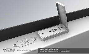 Thea LED Bathroom Mirror with Sensor Demister Pad and Shaver Socket
