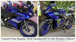 2020 yamaha r15 v3 into monster edition