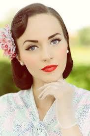 50s new look wedding party makeup ideas 6