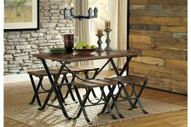 Freimore Dining Room Table and Stools Set of 5 by Ashley