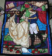 Beauty and the Beast Stained Glass Window Quilt by BrightPhoenix10 ... &  Adamdwight.com