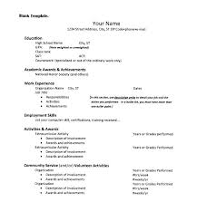 Activity Resume Template Mesmerizing Activities Resume For College Application College Application