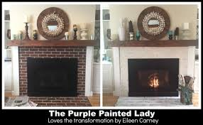 the purple painted lady eileen carney fireplace
