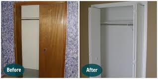 painting bedroom doors elegant bifold wood closet doors home design ideas and
