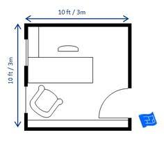 small home office floor plans. This 10 X 10ft (3 3m) Home Office Floor Plan Houses A 5 Small Plans O