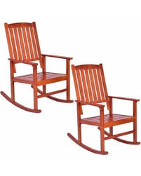 wooden rocking chairs for sale. Costway Set Of 2 Wood Rocking Chair Porch Rocker Indoor Outdoor Patio Deck Furniture Wooden Chairs For Sale
