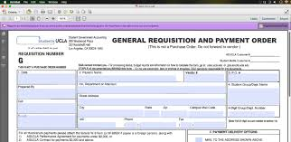 How To Use The Fillable Requisition Form | Ucla Graduate Students ...