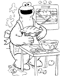 Small Picture Sesame Street Cookie Monster coloring pages