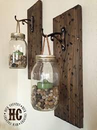 diy mason jar wall lanterns 13 rustic home decor ideas you can recreate this winter