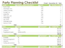 Party Planning Template Free Checklist Free Event Planner Template Checklist Word Excel Documents