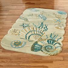 beach themed area rugs round rug magnolia flower small indoor black c coastal