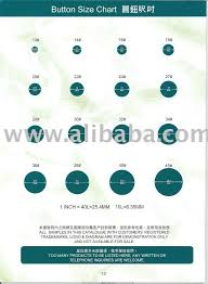 Button Size Chart Buy Buttons Product On Alibaba Com