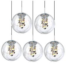 bubble glass pendant light set of five large bubble glass pendant lights from for habitat