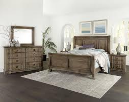 Rustic Hills Saddle Grey Sleigh Bedroom Set