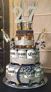 beer can cake easy diy birthday gifts