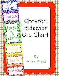 Behavior Clip Chart Behavior Management Chevron 2 Behavior