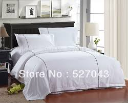 hotel style comforter.  Hotel The Fivestar Hotel White Coffee Strip Style 4pcs 100Cotton QueenFull  Thick Bedding With Style Comforter