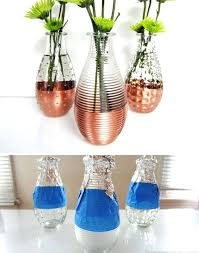 glass craft ideas to decorate your home with diy and crafts ideas copper dipped vases glass craft ideas easy crafts to make at diy crafts projects