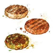 hamburger patty clipart. Exellent Patty Burger Patties Watercolor Illustration Stock Illustration  82961770 For Hamburger Patty Clipart