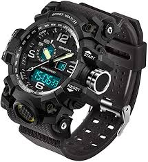 <b>Mens</b> Military <b>Watch</b> Dual Display Waterproof <b>Sport</b> Digital <b>Big</b> Wrist ...