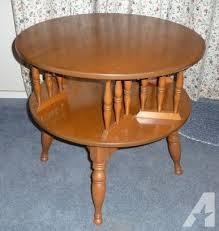 los altos california round maple end table accent table 75
