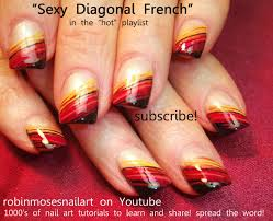Easy Fall Nail Art for Beginners!!! | Diagonal Nail Art Design ...