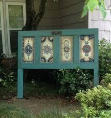 antique door headboard hand painted queen headboard on etsy 385 00