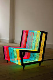 furniture idea. The Disco Chair By Kiwi \u0026 Pom Is A Bespoke Illuminated Furniture Concept. Constructed From 200 Linear Metres Of Electroluminescent Wire, Idea E
