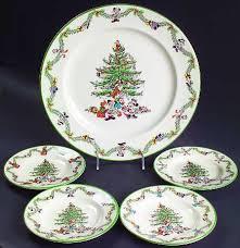 Spode Disney Christmas Tree Celebration Canape Set (SEPDI & 4 Motif Canape  Plates)