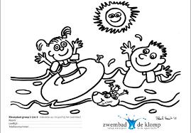 Kleurwedstrijd Zwembad De Klomp