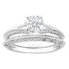 engagement rings with matching wedding bands. knife edge diamond engagement ring and matching wedding band 0.40 tcw. in 14k white gold rings with bands n