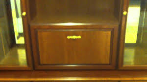 Living Room Cabinets With Glass Doors Stylish Brown Mirrored Antique Style Real Wood Living Room Cabinet