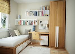 small bedroom office ideas. Beautiful Small Bedroom Office Idea With High Cabinet And Rack Wall Design Ideas D