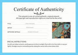 Certificates Of Authenticity Artsy Shark
