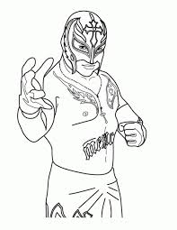 Rey Mysterio Mask Drawing 26 With Colouring Pages