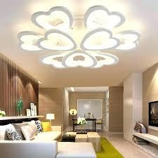 modern bedroom pendant light led ceiling lights for living room lamp acrylic heart lighting uk